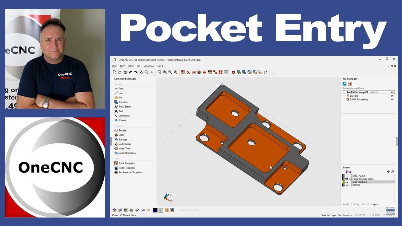 Cad Cam - Problem Solver  - Pocket Entry Point