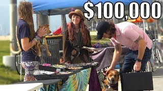 $100,000 to BUY Dogs, RICH vs POOR *Social Experiment*