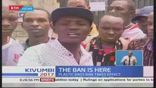 Kenyan hawkers are forced to change professions as plastic bags ban begins