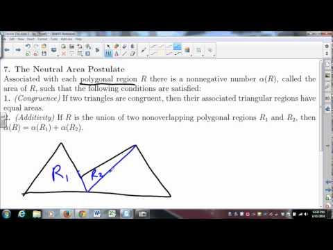 MATH335 SUNYGeneseo Area 1 - Area in Neutral Geometry