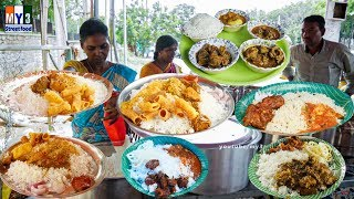 Hardwoking Anuty Selling Cheapest Roadside Unlimited Meals | Indian Street food | #Streetfood