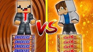 видео: Snickers® ЛАКИ БЛОК VS Twix ЛАКИ БЛОК! НУБ ПРОТИВ ПРО! ВЫЖИТЬ НА 1 БЛОКЕ! #47