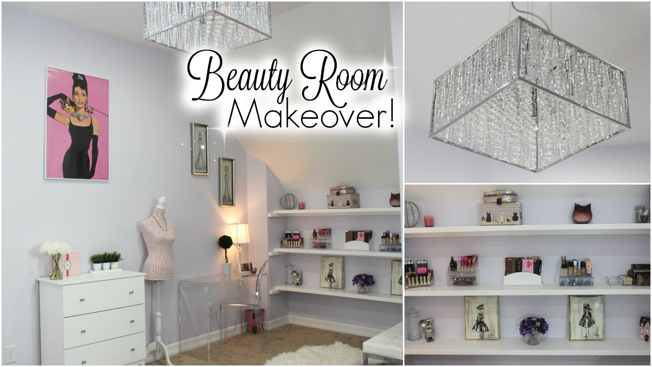 Huge Beauty Room Makeover  My New Makeup Room and Filming Area !