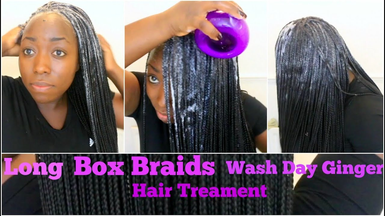 Box Braids Wash day Routine Reduce Dirt or buildup Ginger ...