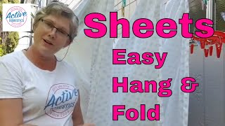 Easily Hang and fold Queen size sheets