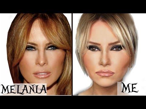 Melania Trump Makeup Transformation - YouTube