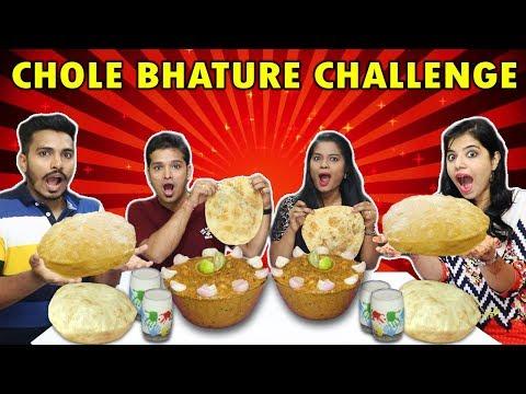 CHOLE BHATURE CHALLENGE | CHOLE BHATURE EATING COMPETITION | छोले भटूरे चॅलेंज