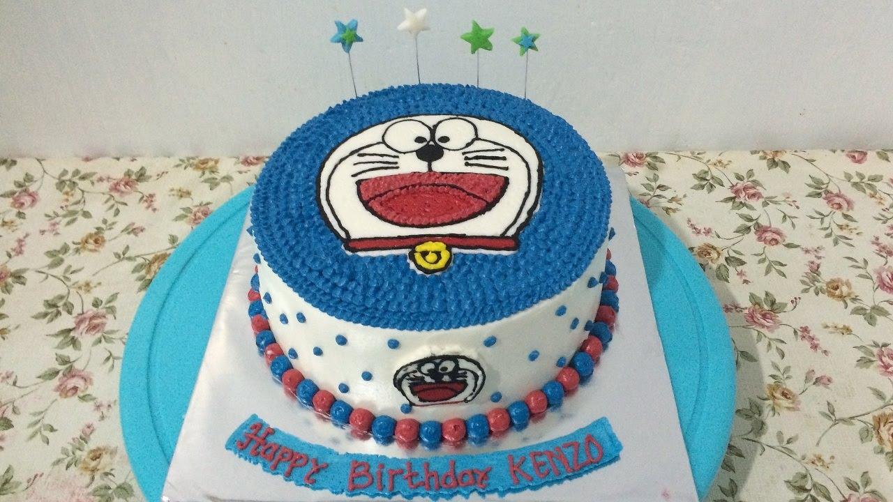 Doraemon Cake Decorating Buttercream Transfer Easy YouTube