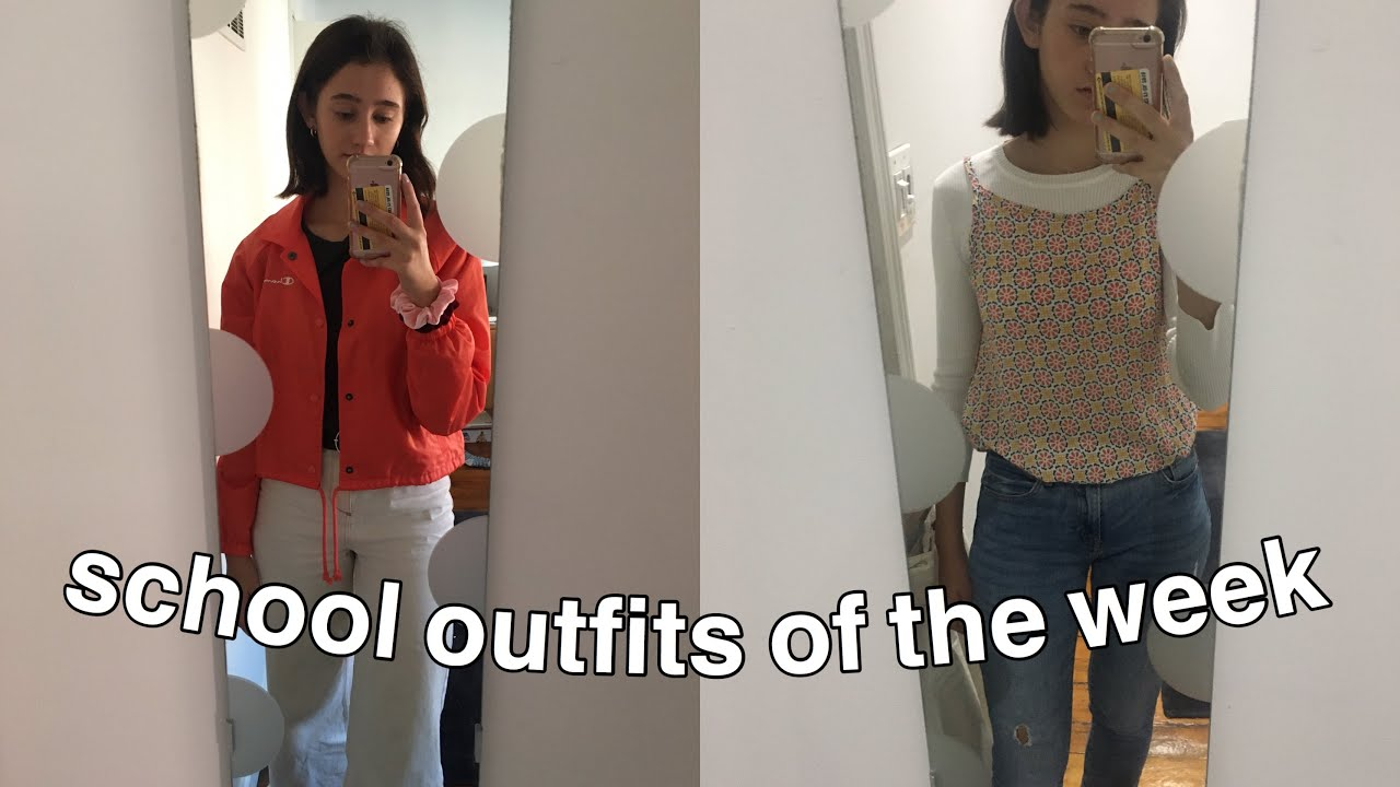 [VIDEO] - my school outfits of the week!! 6