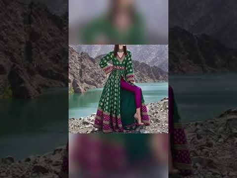 Most Beautiful Anarkali Dress Design/ Party Wear Front Cut Anarkali With Pants #shorts #dress #suit