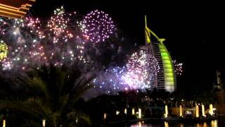 Dubai 2010 New Years Eve Fireworks at Burj Al Arab (31/12/09)