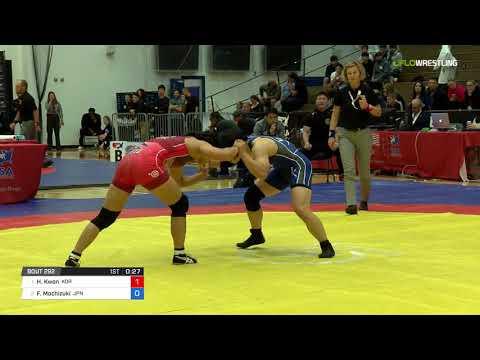 Womens Freestyle 57 Finals - Hyeon Ju Kwon (KOR) vs. Fusano Mochizuki (JPN)