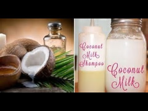 DIY Chemical Free Coconut Milk Shampoo