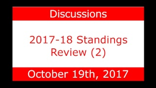 NHL Daily Talk Show #67 2017-18 Standings Review (2)