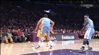 11 30 2012   Nuggets vs  Lakers   Team Highlights