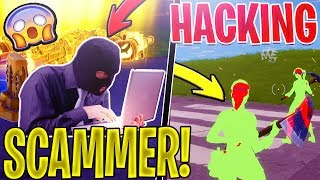 HACKING Scammer Gets SCAMMED *MUST SEE* In Fortnite Save The World