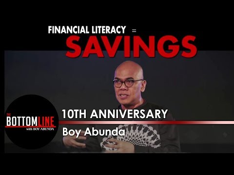 Boy Abunda discusses the importance of financial literacy to the youth   The Bottomline