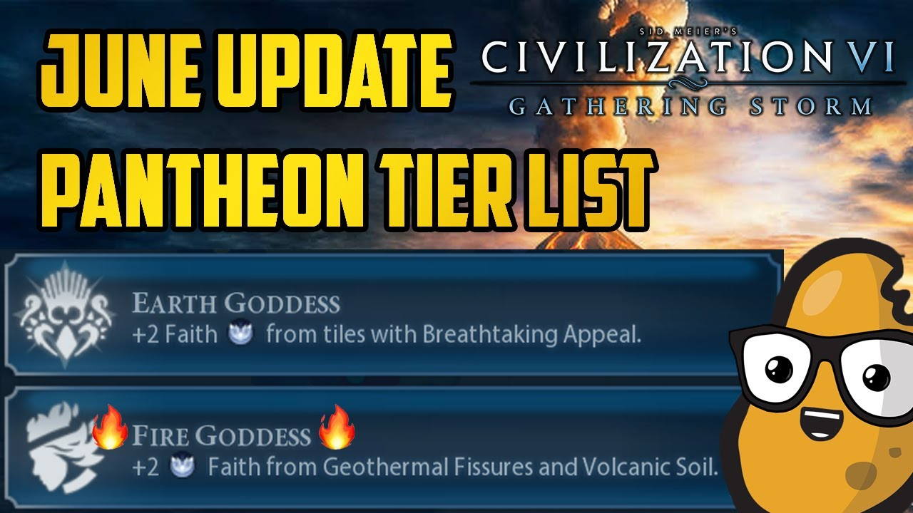 Deity Pantheon Tier List - Civ 6 June Update