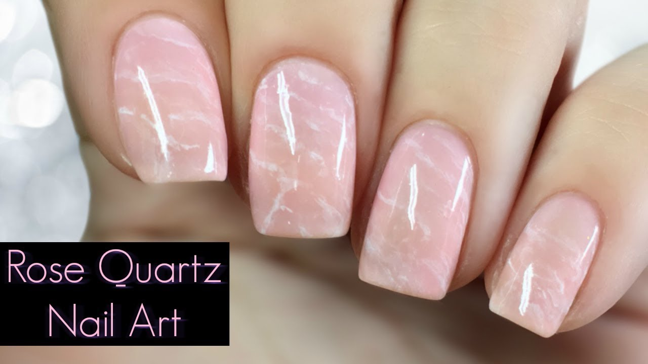 How To Rose Quartz Nail Art Tutorial Regular Nail Polish