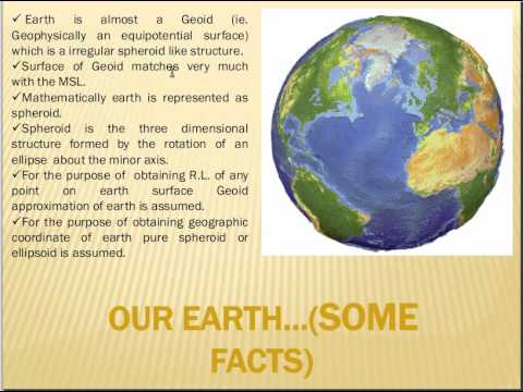 Geographic Coordinate System : geoid and spheroid concept : Part - 1