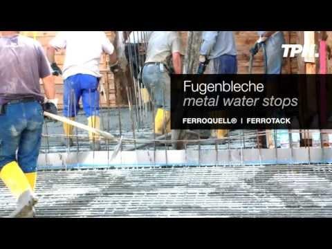 Fugenblech - Metal Water Stops - Video