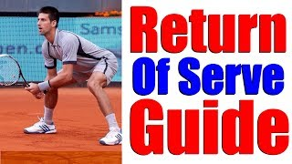 Tennis Return Of Serve - The Complete Step By Step Guide