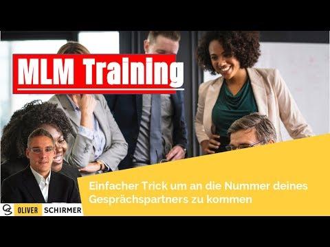 MLM Training - Einfacher Trick um an die Telefonnummer deines Gesprächspartners zu kommen