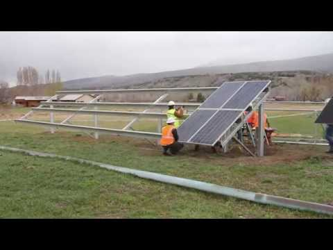 8.4 kW Ground Mount Install Time Lapse at Solar Energy International's Paonia Campus