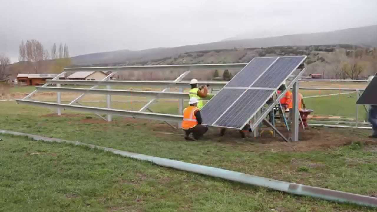 8 4 Kw Ground Mount Install Time Lapse At Solar Energy