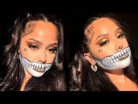 Thug Skull Halloween Makeup Tutorial | Just Nicole thumbnail