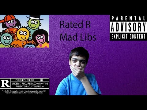 Rated R Mad Libs