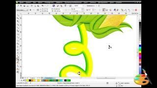 corel draw cara membuat jagung vektor mudah sekali