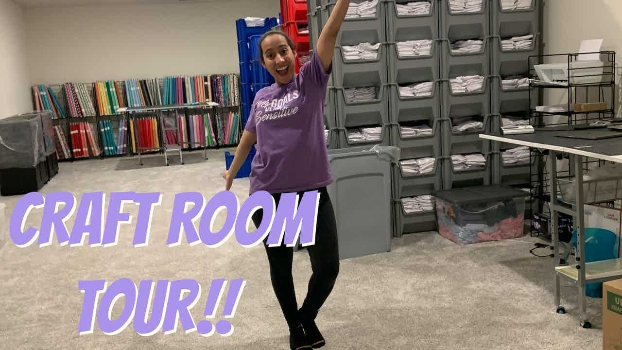 OFFICIAL BASEMENT WAREHOUSE EMBROIDERY CRAFT ROOM REVEAL!