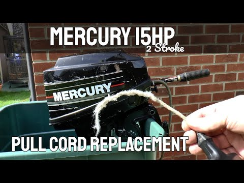 Mercury 15hp 2 Stroke Outboard Motor Pull Cord Replacement