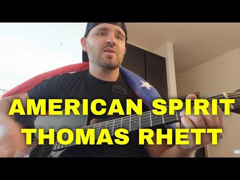 How to play American Spirit on guitar  Thomas Rhett  Lesson  Easy