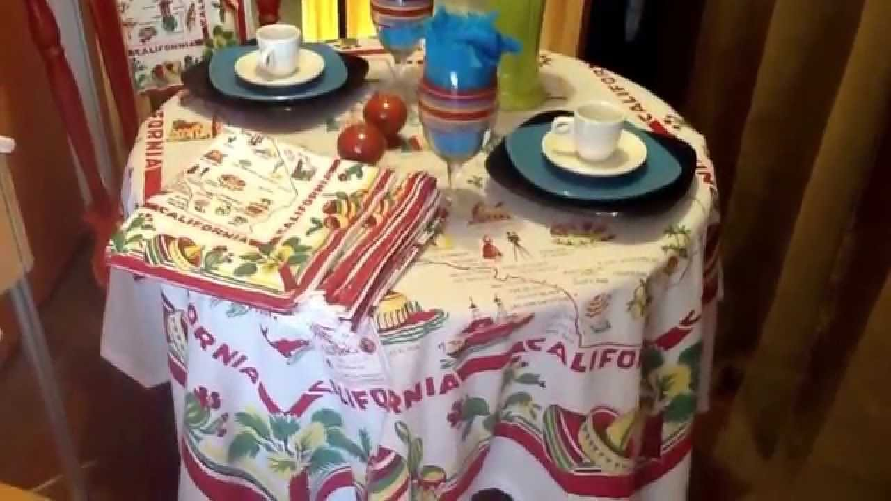 Tablescaping With Square Fiestaware - YouTube
