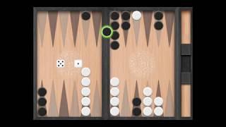 Короткие нарды – пример игры.