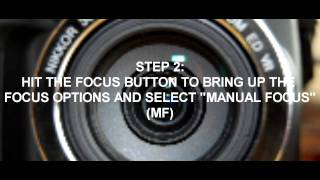 NIKON COOLPX P500 VIDEO TUTORIAL MANUAL FOCUSING IN VID MODE/DEPTH OF FIELD
