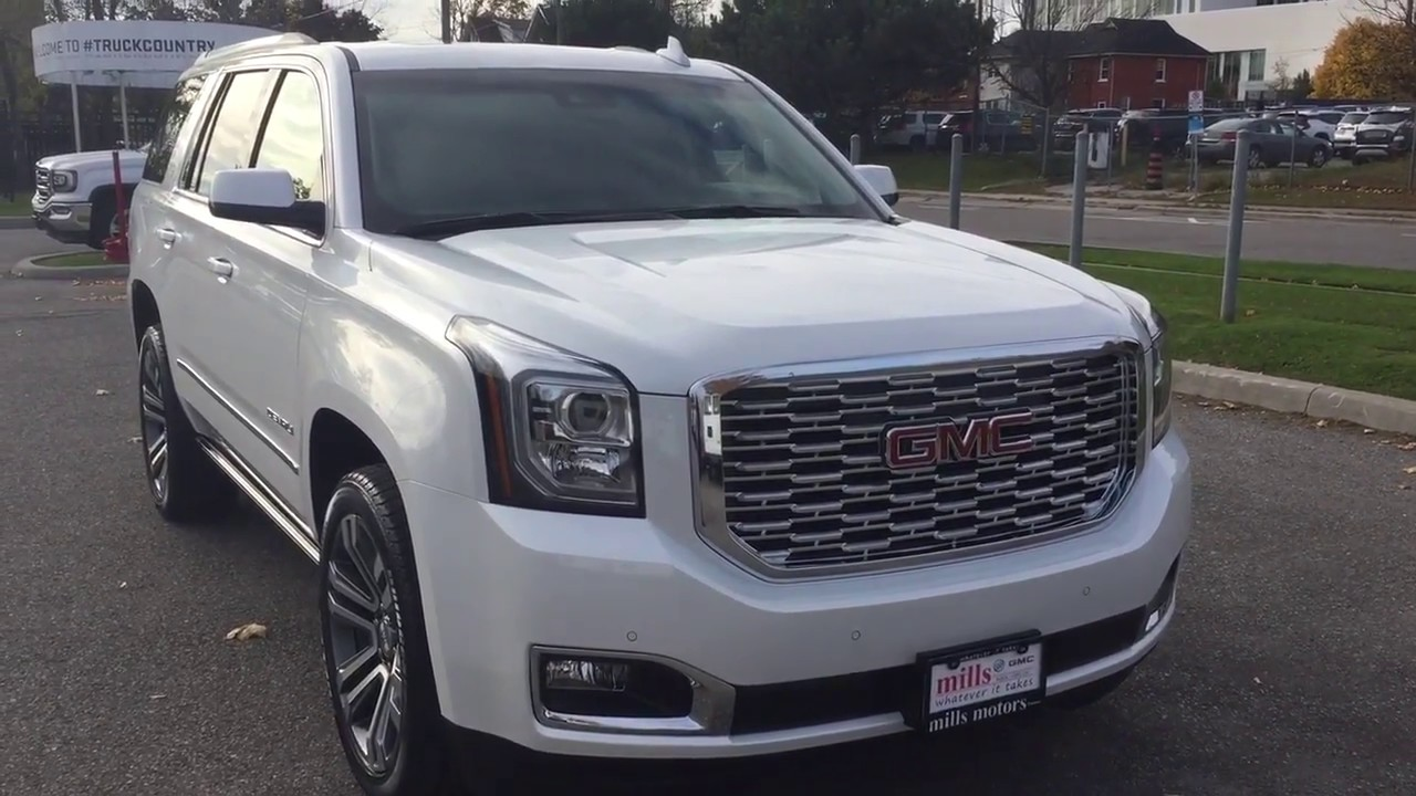 2018 GMC Yukon Denali Head Up Display Power Running Boards ...