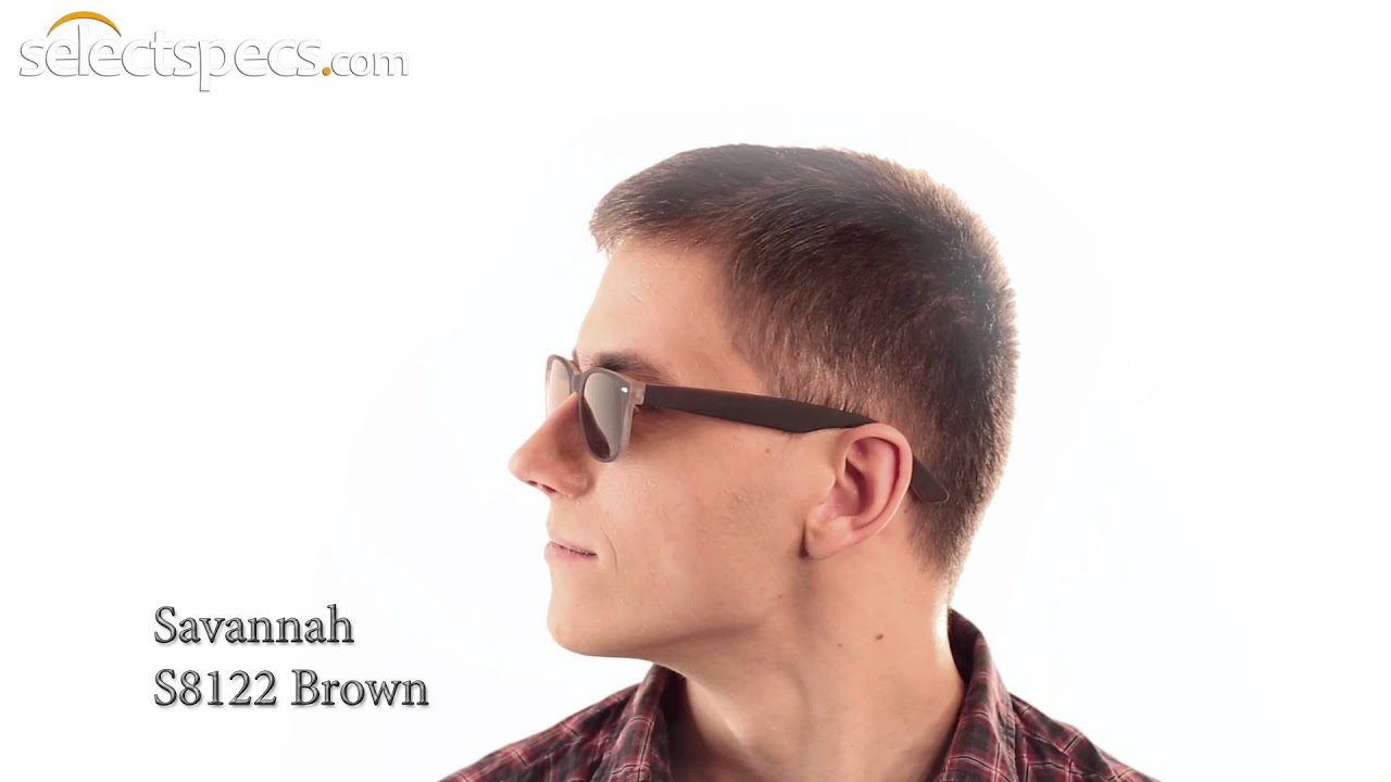 1f54681533 Budget Wayfarer-style Sunglasses for Men - Savannah S8122 (Brown).  SelectSpecs
