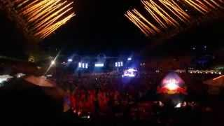 Hardwell live @ Ultra Europe 2014 Intro Fireworks