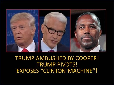 """Trump Setup by Anderson Cooper and CNN! He Explodes! Exposes """"Clinton Machine"""" Like No One Ever Has!"""