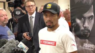 LEGEND! - MANNY PACQUIAO (FULL & COMPLETE) MEDIA SCRUM FROM AUSTRALIA / PACQUIAO v HORN