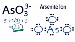 AsO3 3- Lewis Structure: How to Draw the Lewis Structure for AsO33-