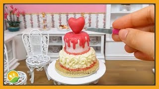 Làm bánh kem tình yêu tí hon - Love cream cake