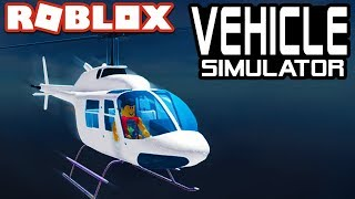 HELICOPTER UPDATE in Vehicle Simulator!   Roblox