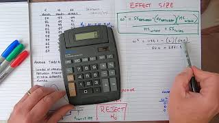 How To... Calculate Effect Size For ANOVA