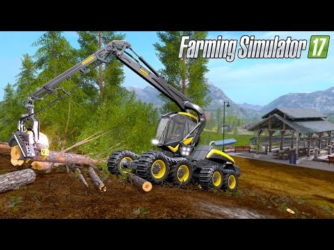 Farming Simulator 17 - Forestry with Ponsse Scorpionking Harvester!