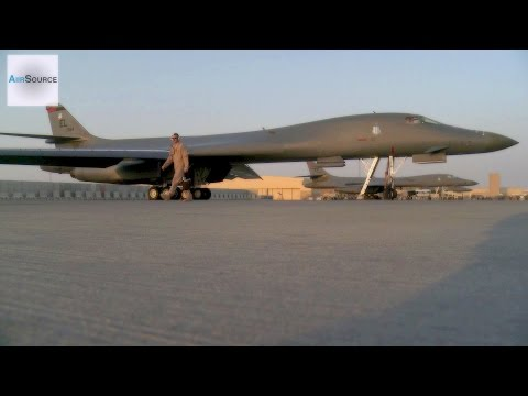 B-1 Bomber on Runway at Al Udeid AB, Qatar