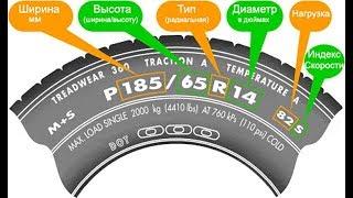 маркировка автомобильной шины Все секреты в одном видео